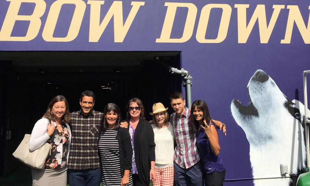 The Names Family at Husky Stadium