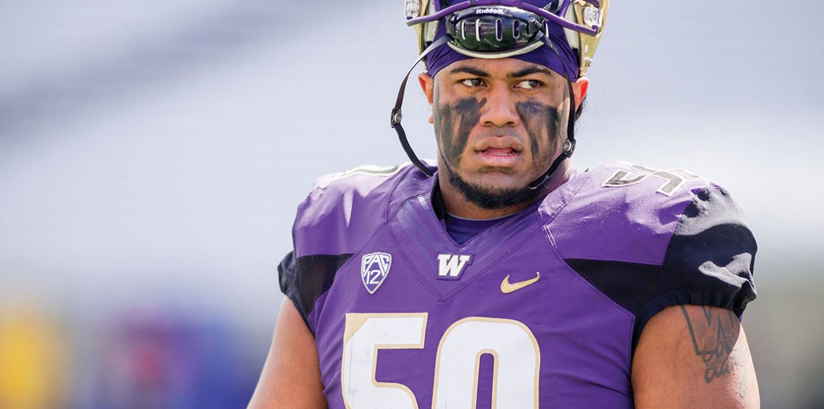 54a14ab4 Defensive lineman Vita Vea is living up to the expectations he and others  have set for him