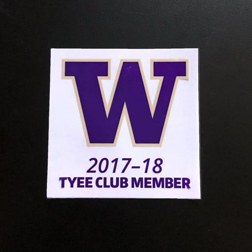 2017-18 Tyee Member Decal