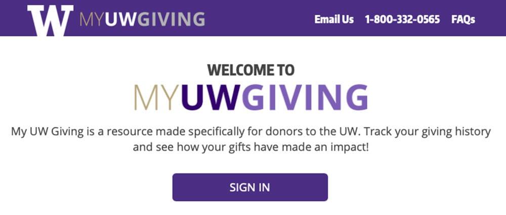 My UW Giving