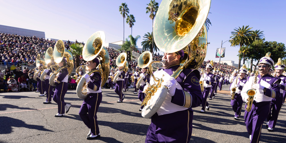 Band at the Rose Bowl Parade