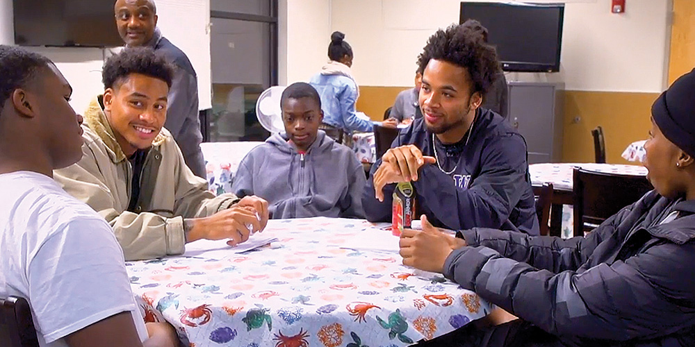 Jojo McIntosh and Myles Gaskin at 4C Coalition