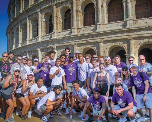 Men's Basketball team in Italy