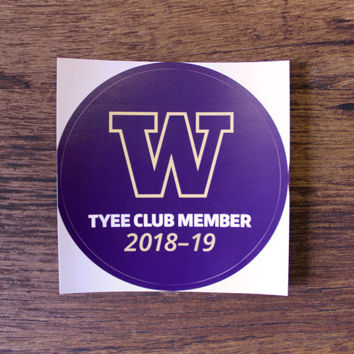 2018-19 Tyee Club Member Decal