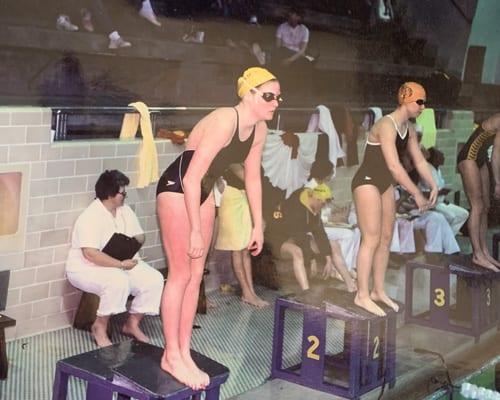 Cat Clark swimming